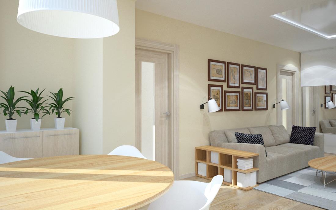 дизайн интерьера двухкомнатной квартиры в Днепре
