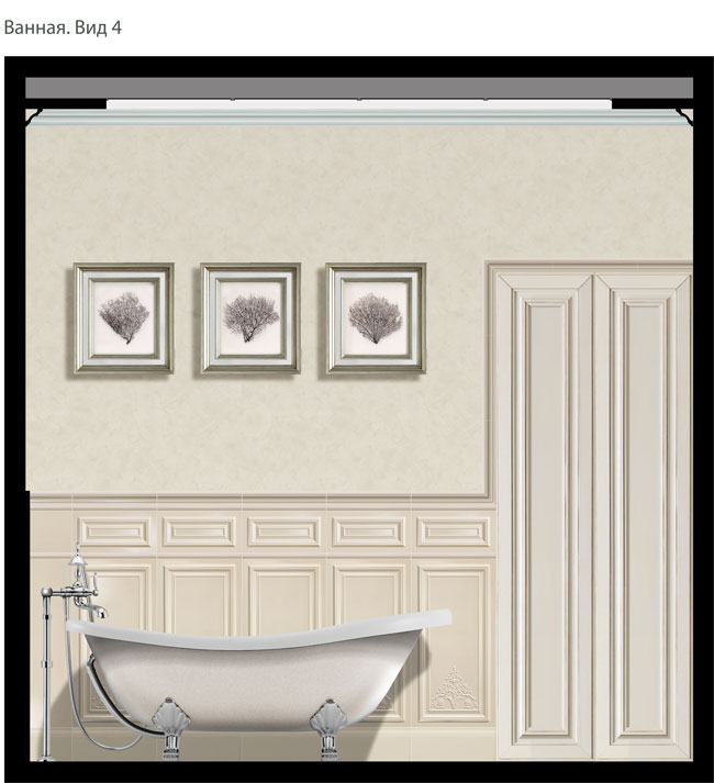 2D визуализация интерьера квартиры