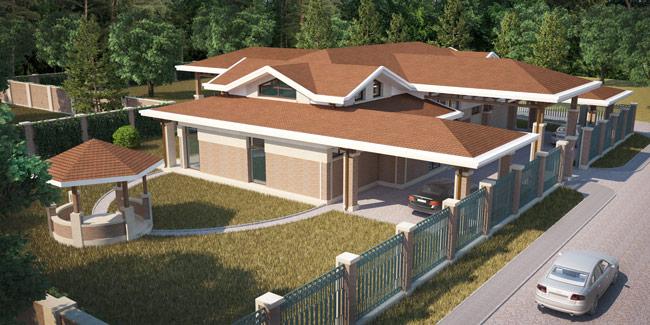 Дизайн-проект фасадов загородного дома