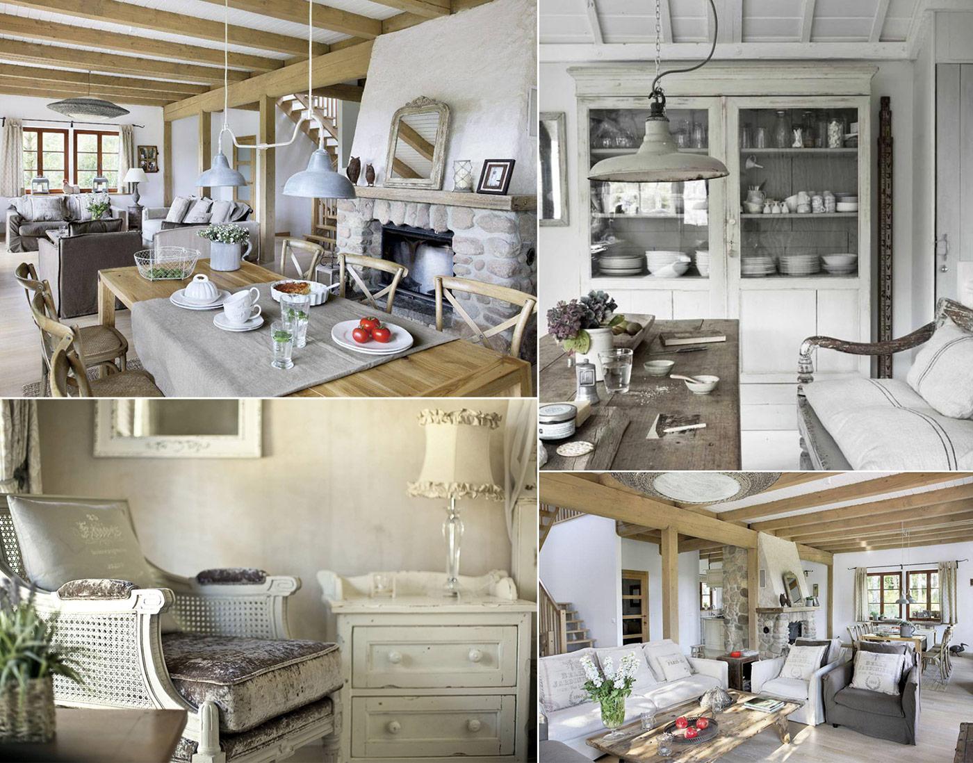 Дизайн гостинной в стиле Прованс фото