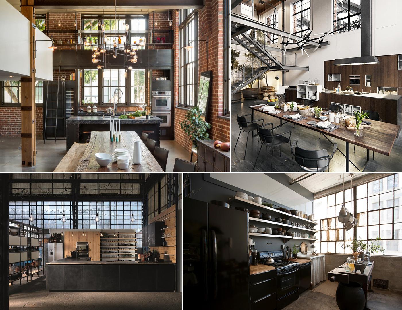 дизайн кухни в стиле лофт фото