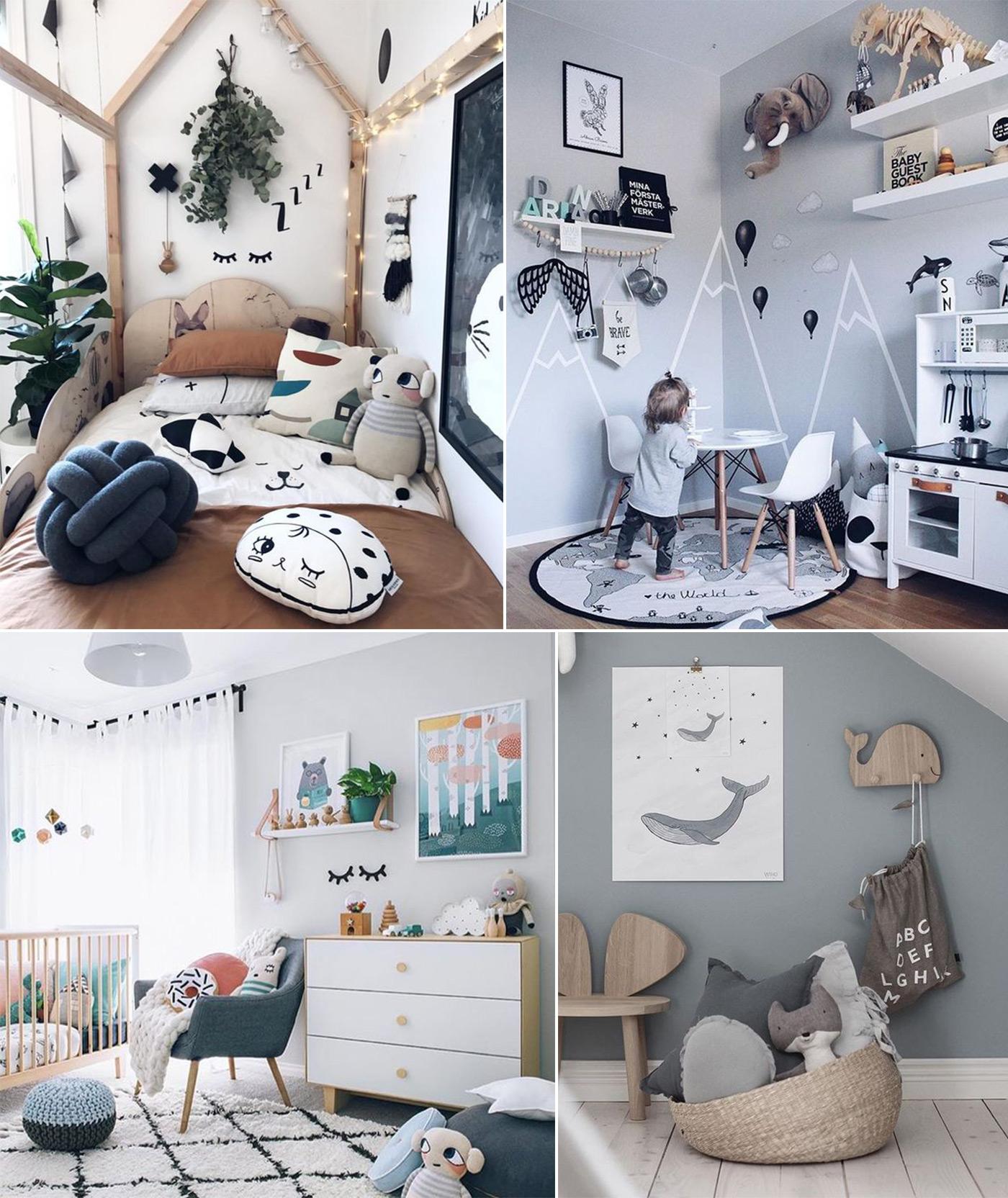 детская комната в скандинавском стиле фото