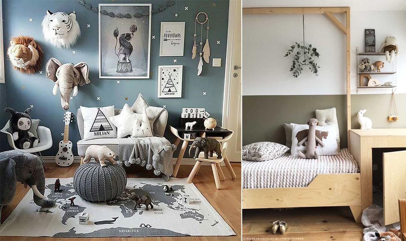 фото детской комнаты в Скандинавском стиле