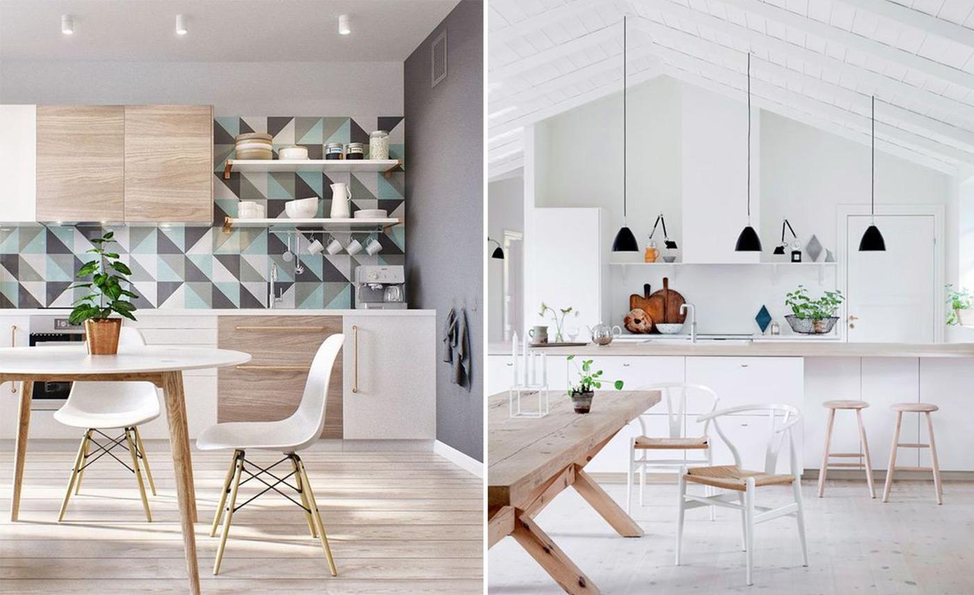 фото скандинавского стиля в интерьере кухни