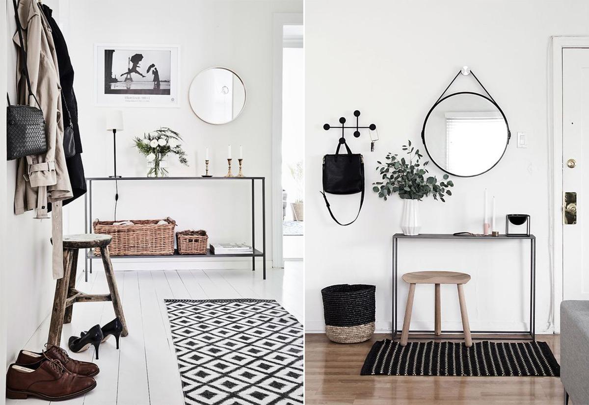 скандинавский стиль в интерьере прихожей