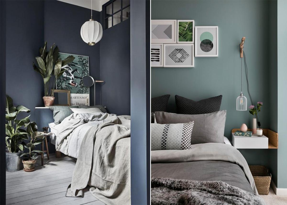 скандинавский стиль в интерьере спальни-1