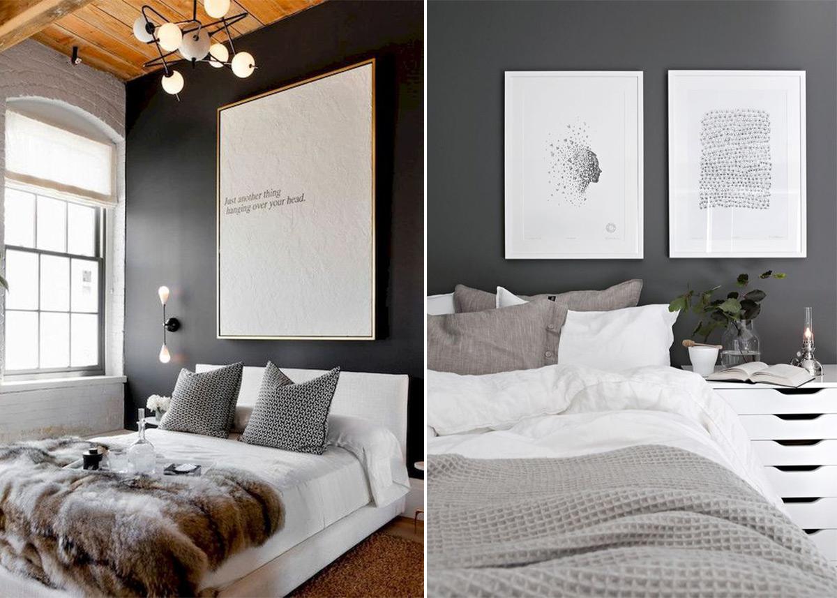 скандинавский стиль в интерьере спальни-2