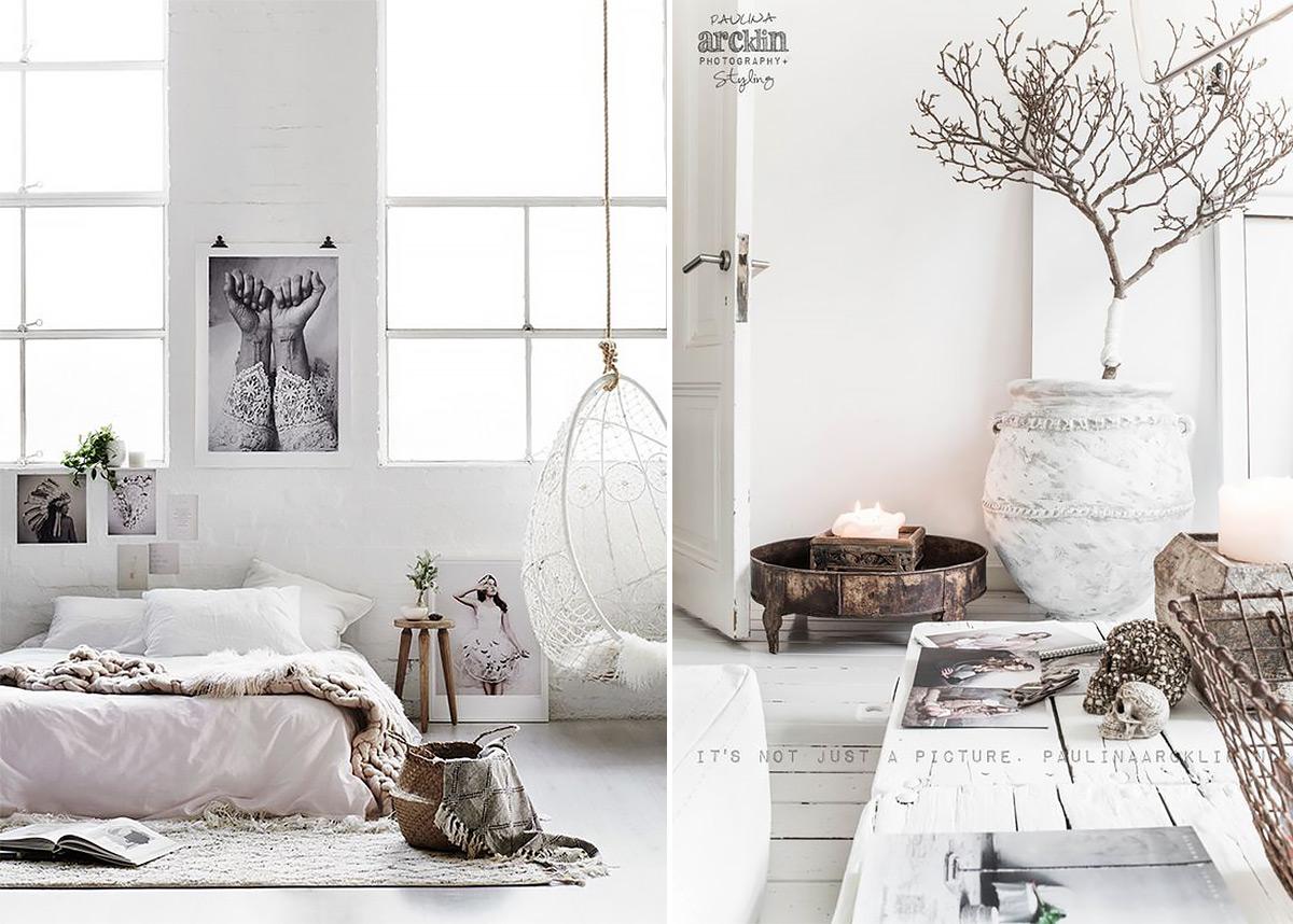скандинавский стиль в интерьере спальни-3