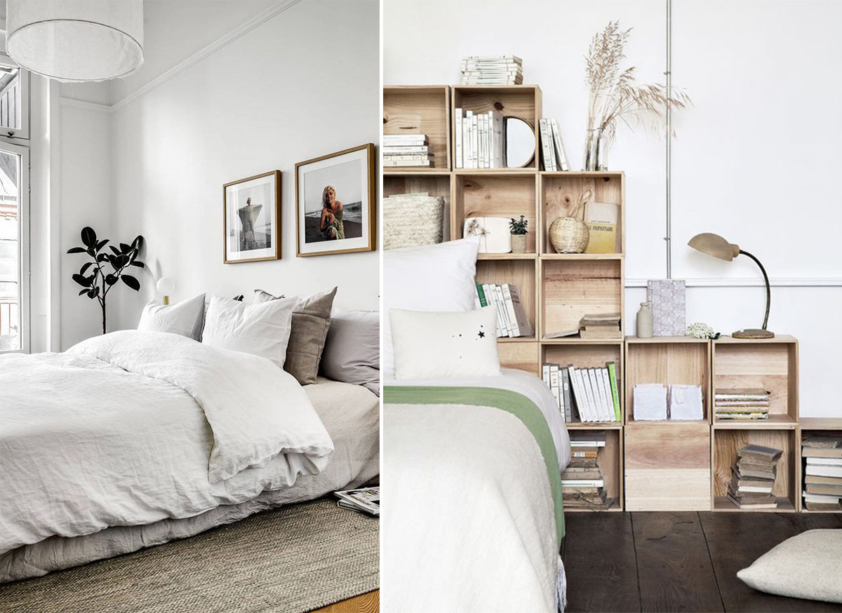 скандинавский стиль в интерьере спальни-7