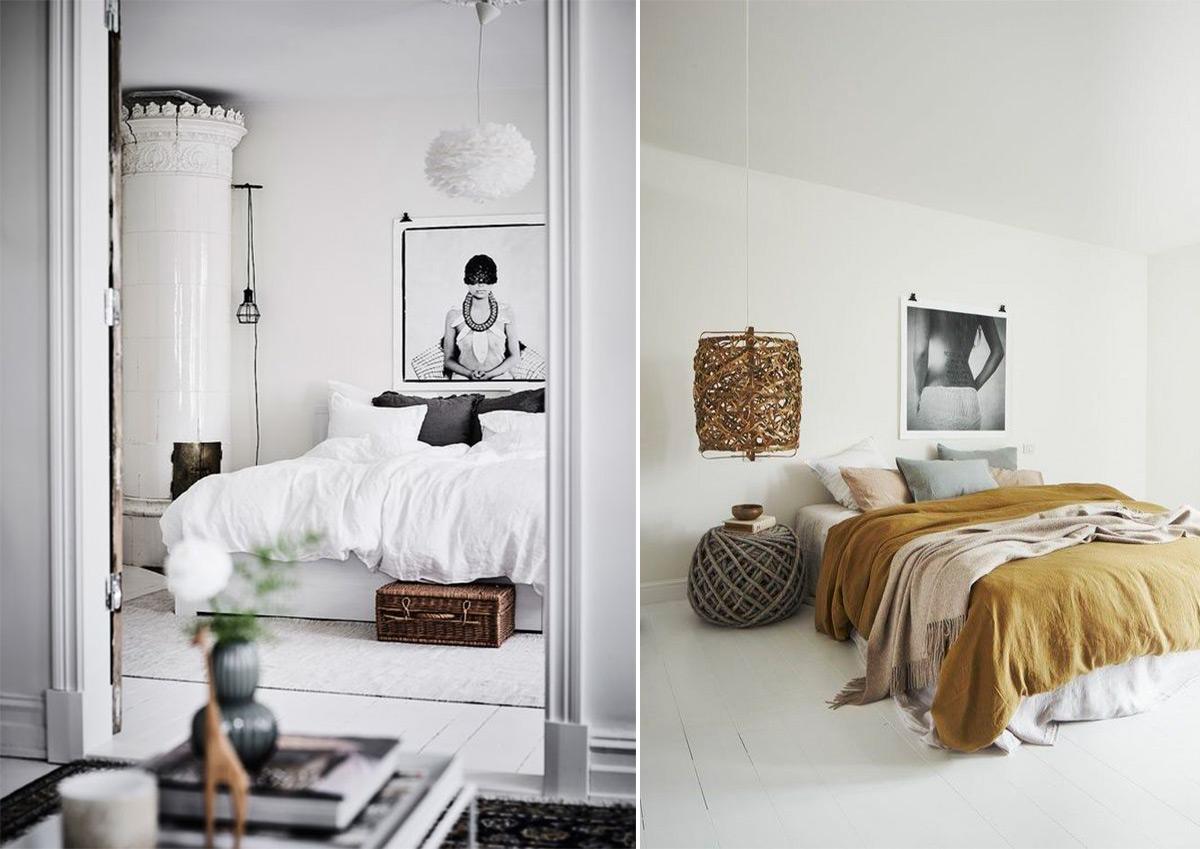 скандинавский стиль в интерьере спальни-4