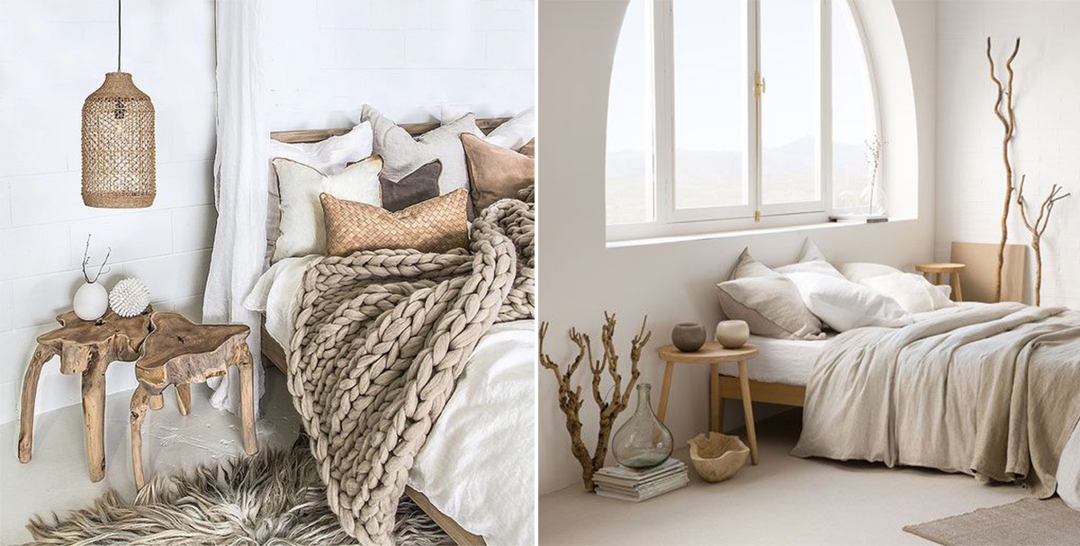 фото скандинавского стиля в интерьере спальни