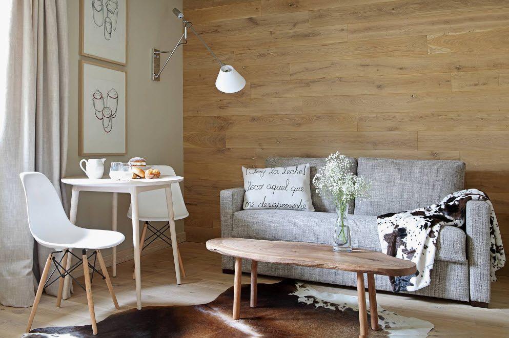 маленькая гостиная в Cкандинавском стиле