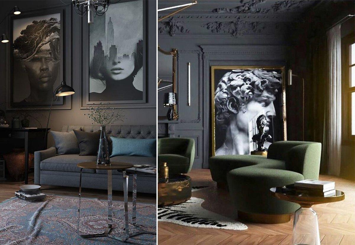 интерьер гостинной в классическом стиле